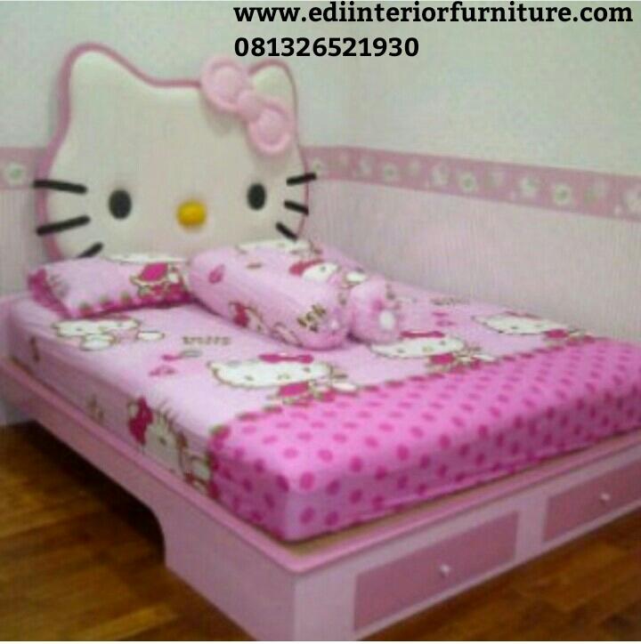 Tempat Tidur Anak Hello Kitty Edi Interior Furniture Edi Interior Furniture
