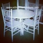 Kursi Makan Tiffany Putih Duco