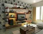 Backdrop Tv Mewah Ruang Keluarga