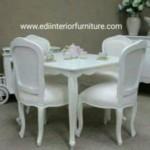 Meja Makan Putih Duco