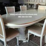 Meja Makan Oval Model Terbaru