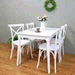 Meja Makan dan Kursi Tiffany Putih