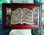 Kaligrafi Bentuk Alqur'an Ukiran Jepara